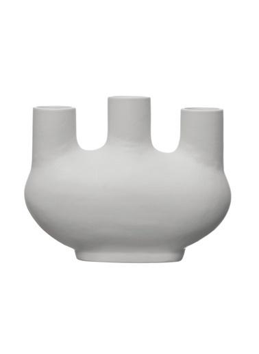 Warm Design Porselen Vazo Beyaz